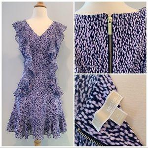 Michael Kors Purple Gold Zipper Dress Like New